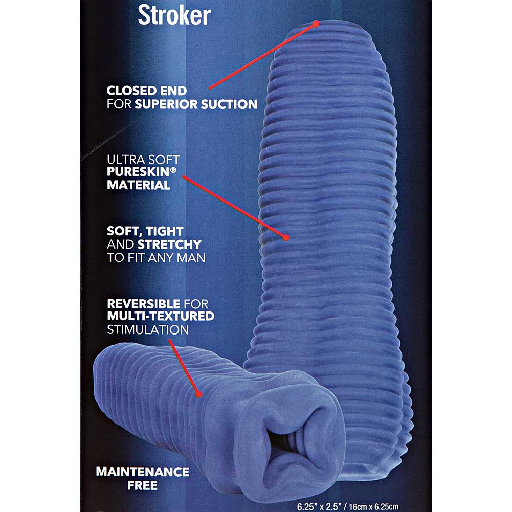Apollo Textured Reversible Stroker for Men Blue - View #1