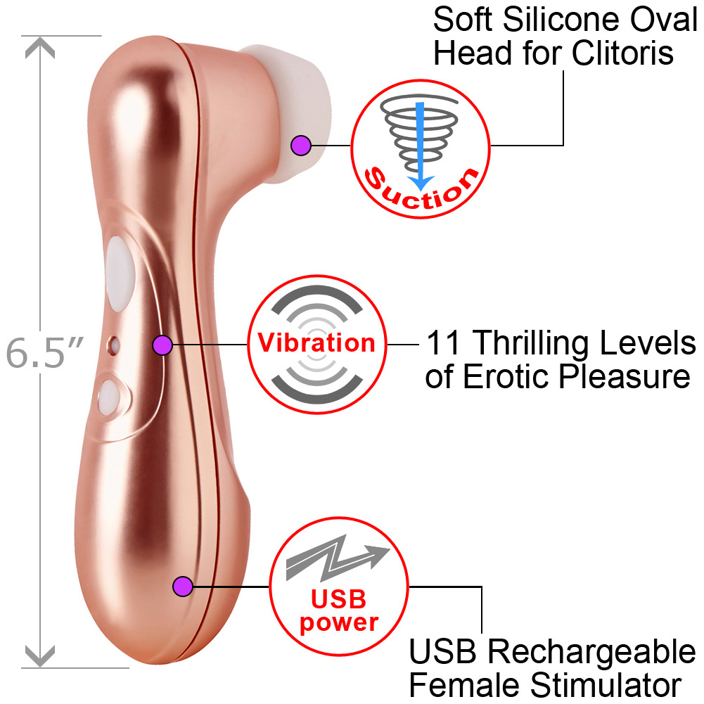 "Satisfyer Pro 2 Rechargeable Female Sensual Stimulator 6.5"" Bronze - View #1"