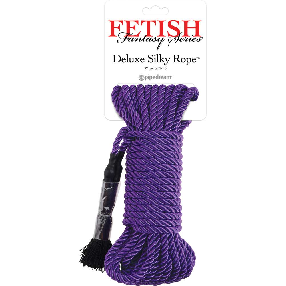 Fetish Fantasy Series Deluxe Silky Rope 32 Feet 9.75 M Purple - View #1
