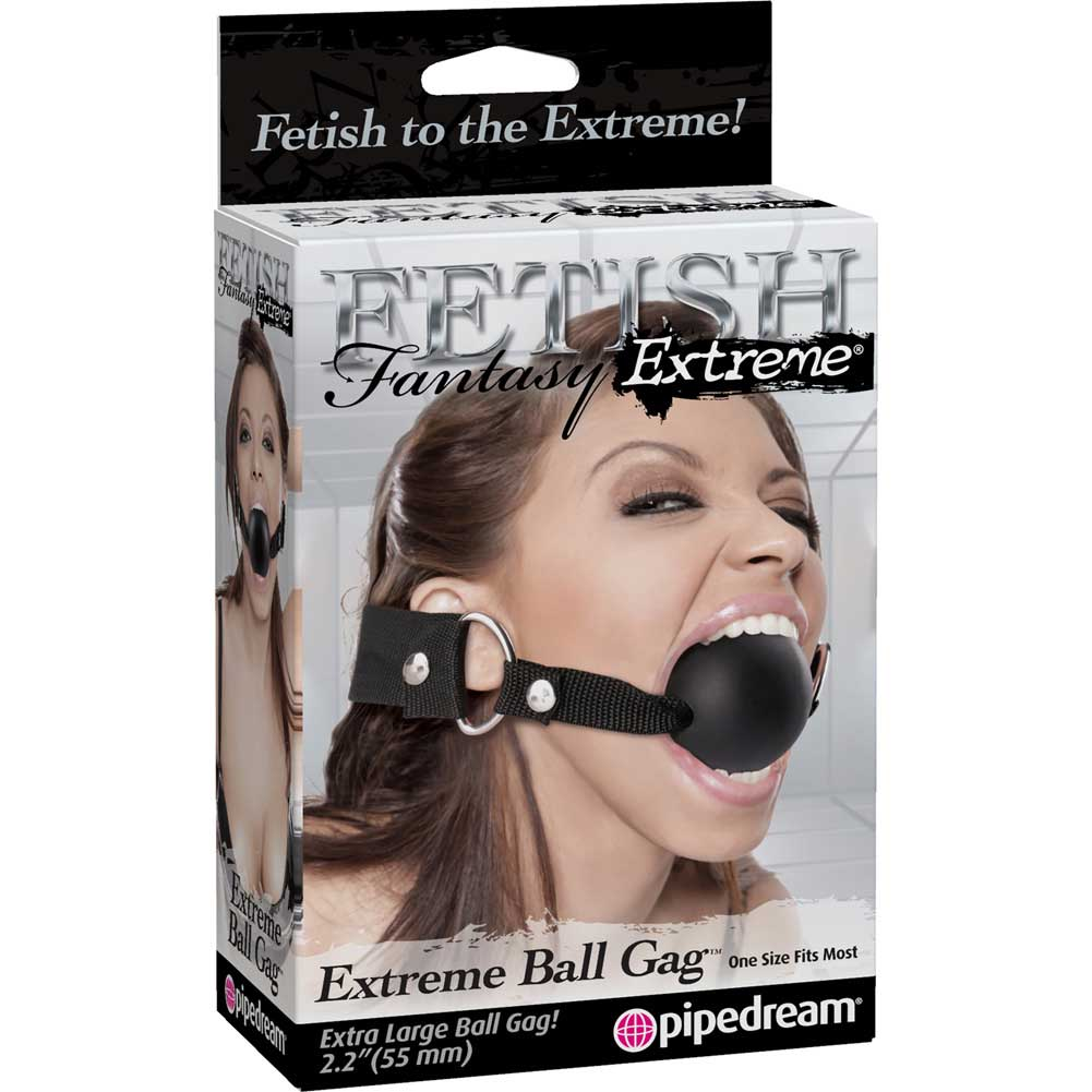 "Fetish Fantasy Extreme Extreme Ball Gag 2.25"" Black - View #4"