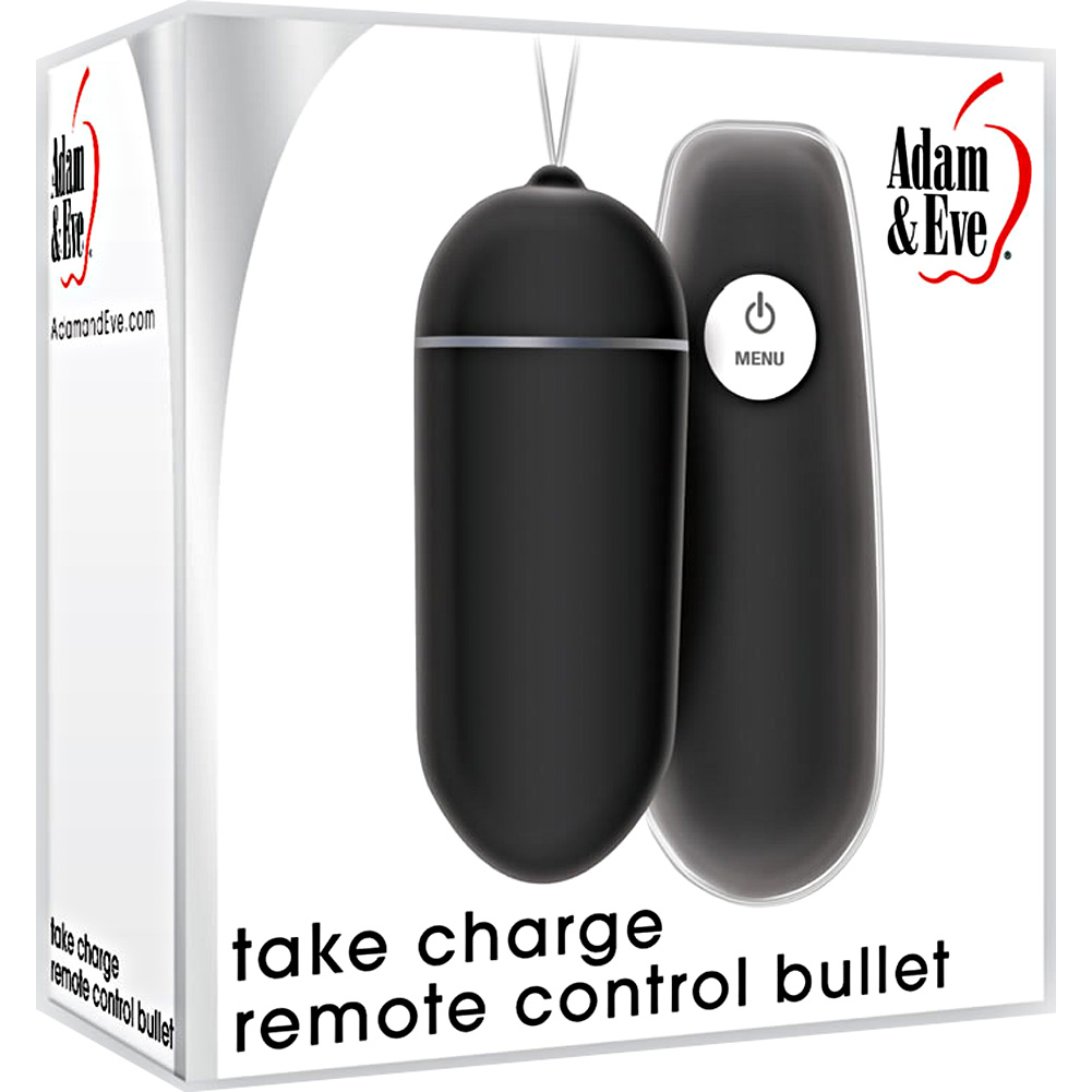 Adam and EveTake Charge Remote Control Vibrating Bullet Black - View #1