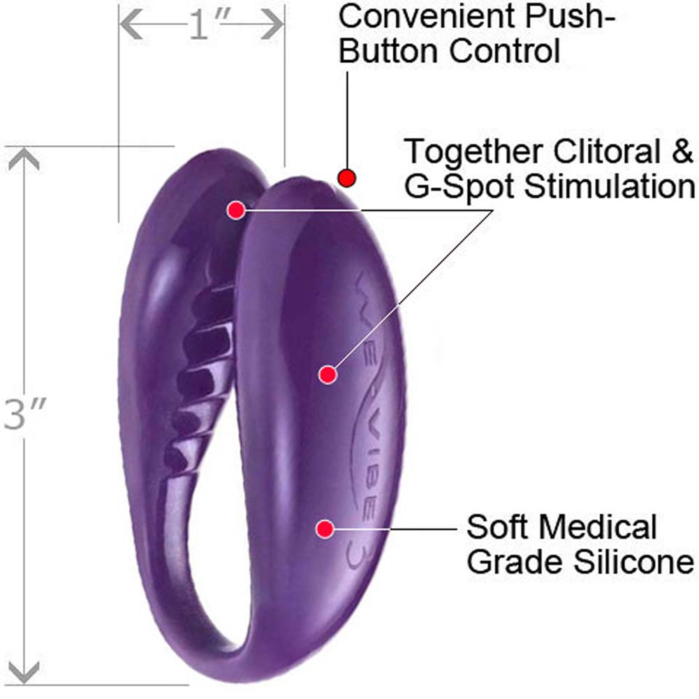We-Vibe 3 Wireless Silicone G-Spot Vibrator for Both Purple - View #1