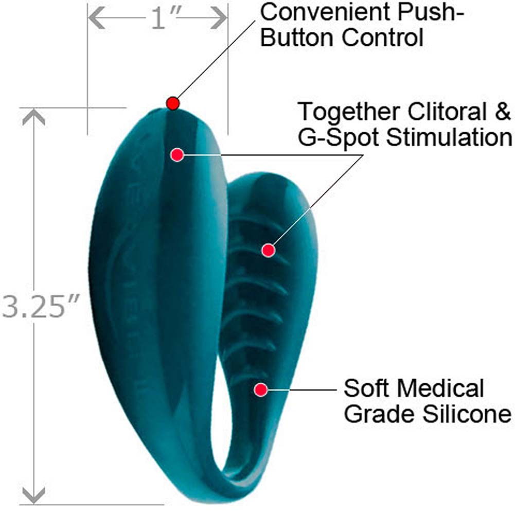We-Wibe II Cordless Silicone G-Spot Vibe for Couples Teal - View #1