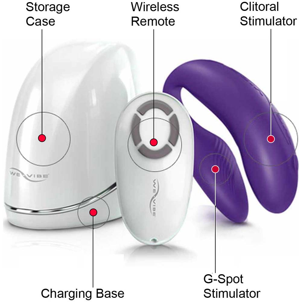 We-Vibe 4 Wireless Silicone G-Spot USB Vibrator for Both Pink - View #2