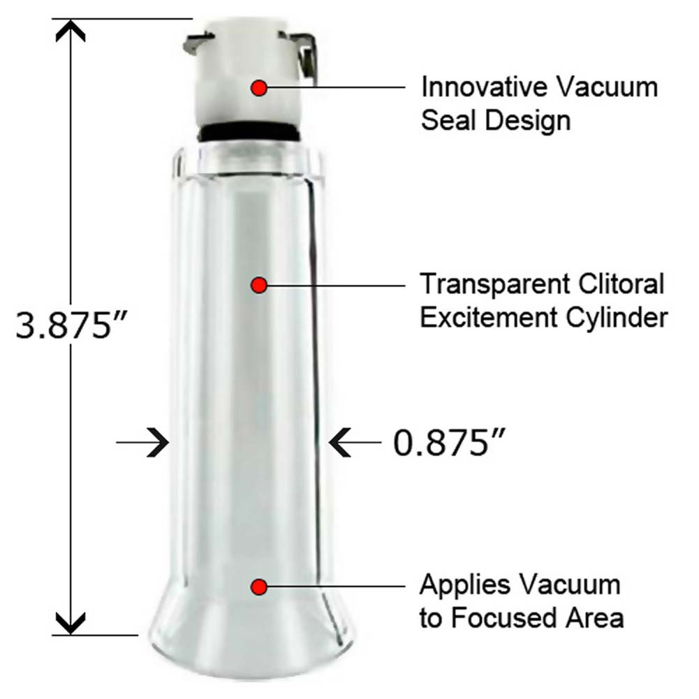 Size Matters Clitoral Excitement Cylinder Medium Clear - View #1