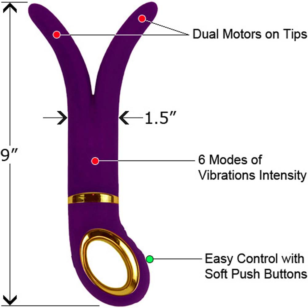 "Rechargeable G-Spot Silicone G Vibe 9"" Purple - View #1"
